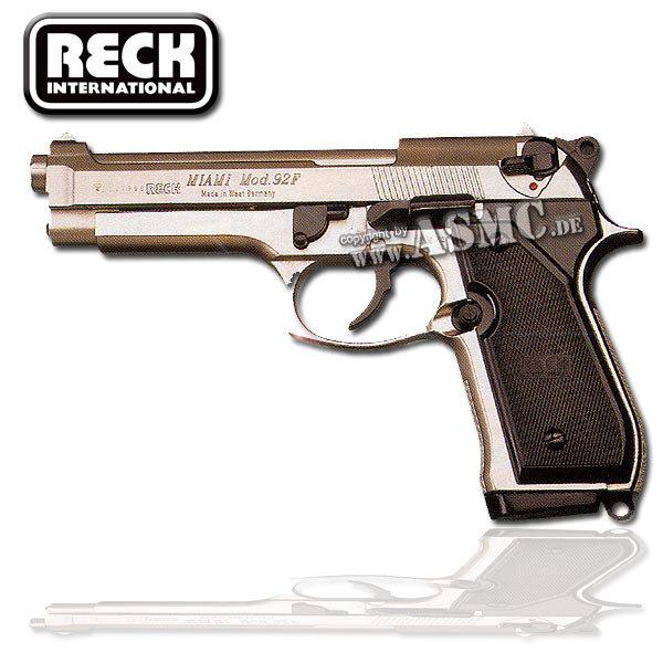 Pistole Reck Miami 92 F nickel plated