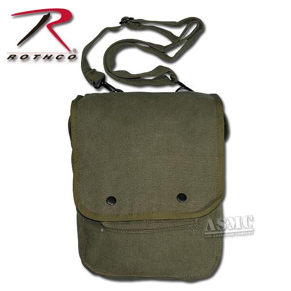 Canvas Map Case Shoulder Bag olive