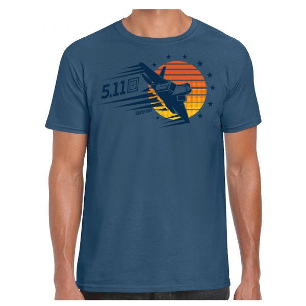 5.11 T-Shirt Sunset Firepower indigo