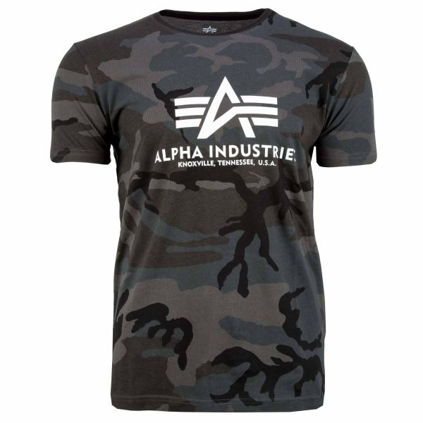 Alpha Industries T-Shirt Basic black camo