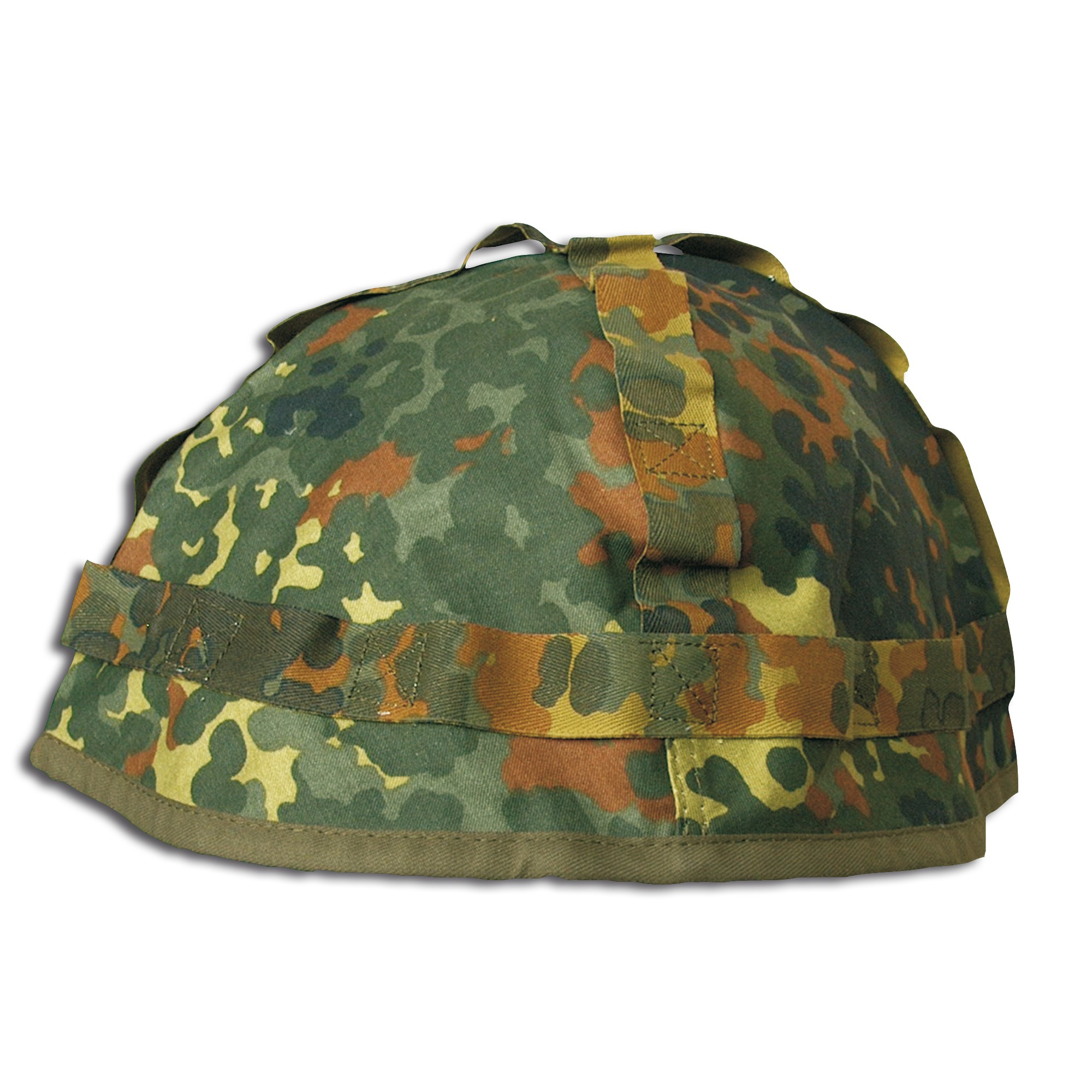 German Steel Helmet Cover Used flecktarn