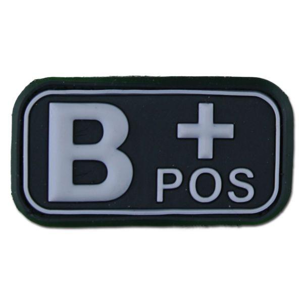3D Blood Type B Pos swat