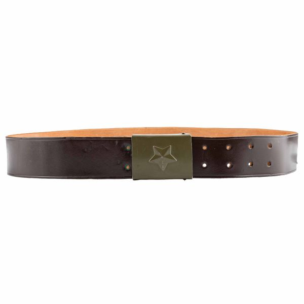Used Czech Army Leather Belt brown