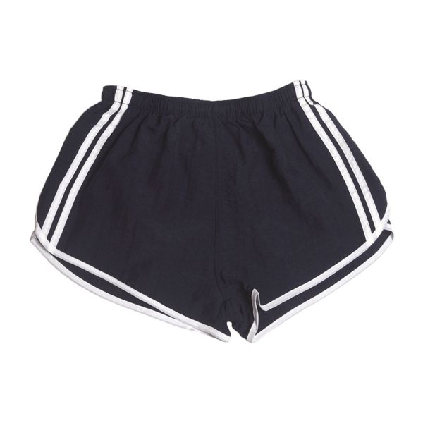 French Sport Shorts with Stripes Like New dark blue