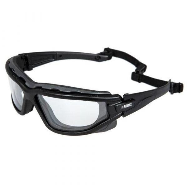 Pyramex Safety Glasses I-Force Clear Antifog Glasses black