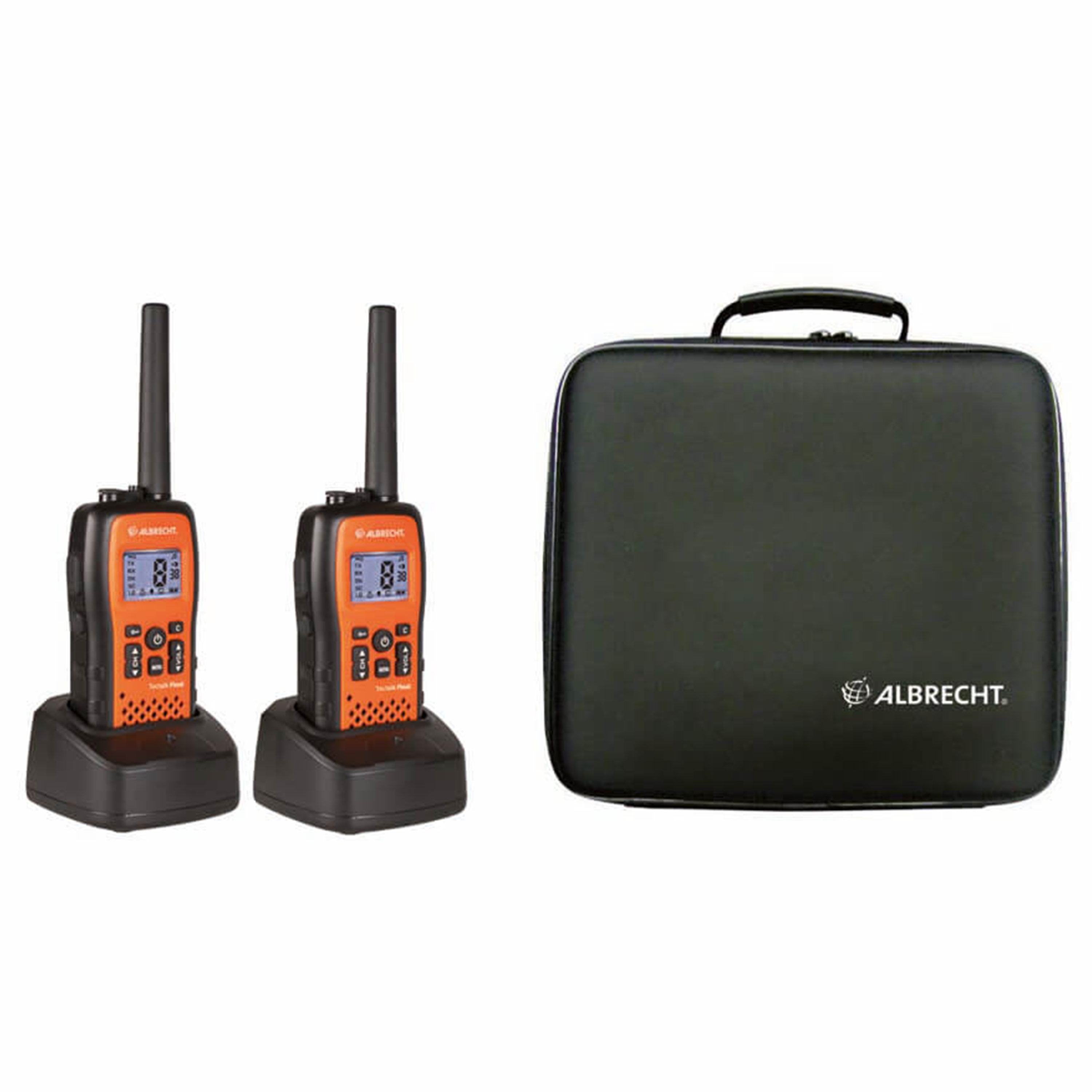 Albrecht Two-Way Radio Tectalk Float 2-Pack Case Set