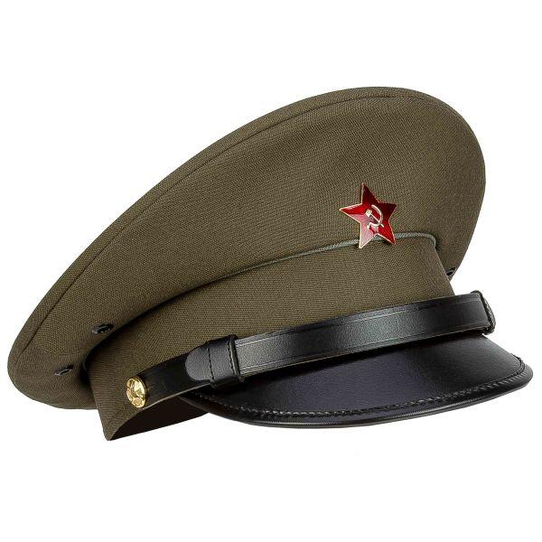 Soviet Union Peaked Cap Red Star Like New olive
