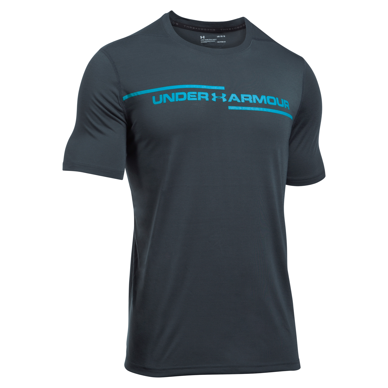 Under Armour T-Shirt Threadborne Cross Chest gray/blue
