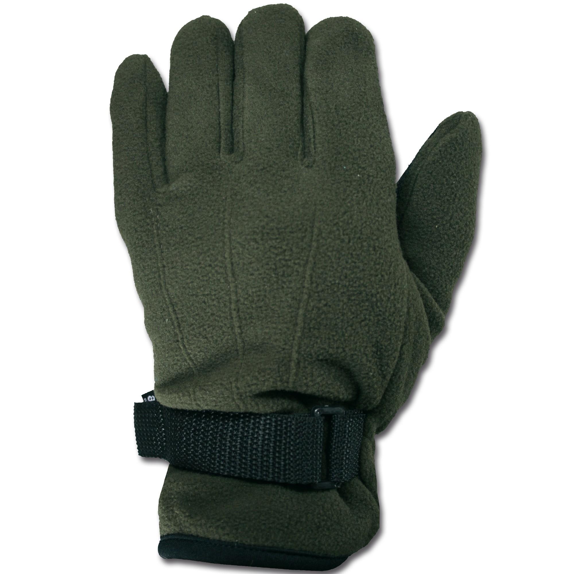 Finger gloves fleece MFH olivgreen