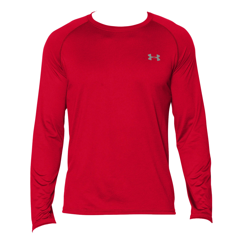 Under Armour Long Arm Shirt Tech Tee red