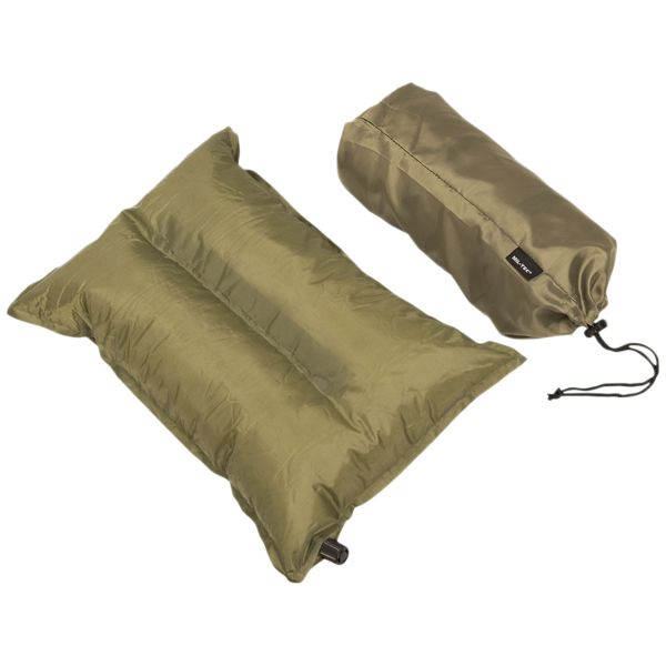 Self Inflating Pillow olive