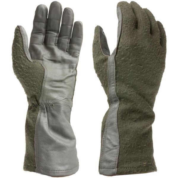 Used US Pilot Gloves olive