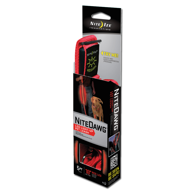 NiteIze LED Dog Leash red