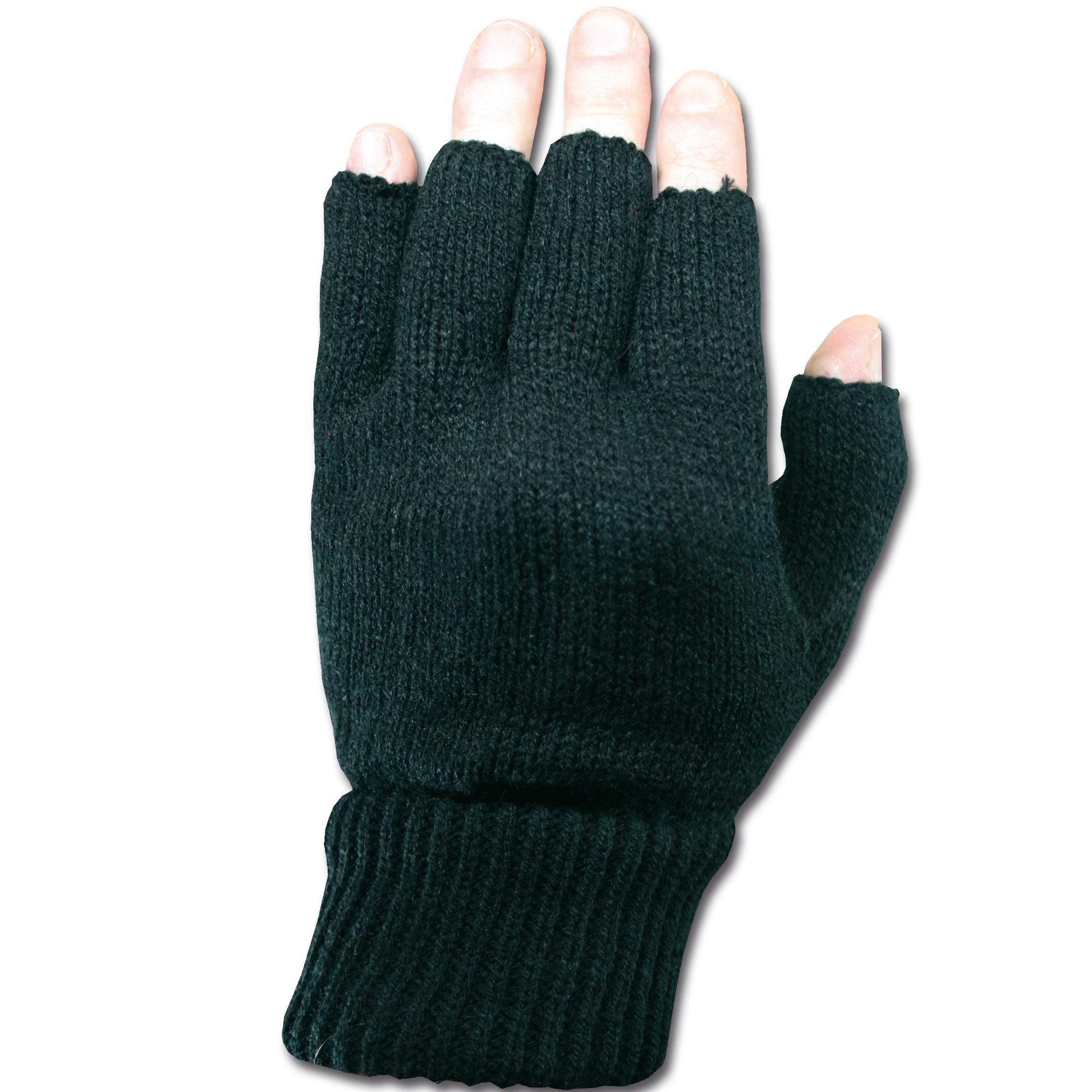 Fingerless Acrylic Gloves black
