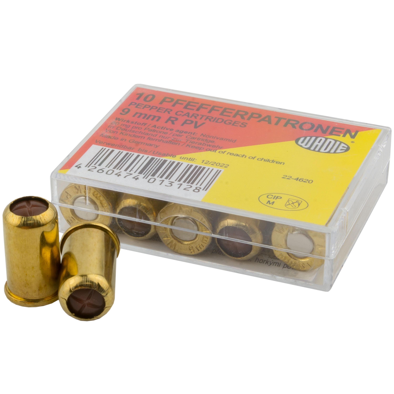 Wadie PV Pepper Cartridges 9 mm Revolver 10-Pack