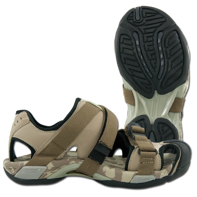 NEU Trekking-Sandalen mit Clipverschluss Klickverschluss desert Fox Outdoor