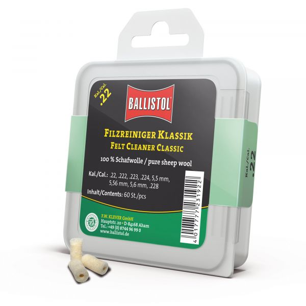 Ballistol Felt Cleaner Classic Cal. .22 60 Pieces