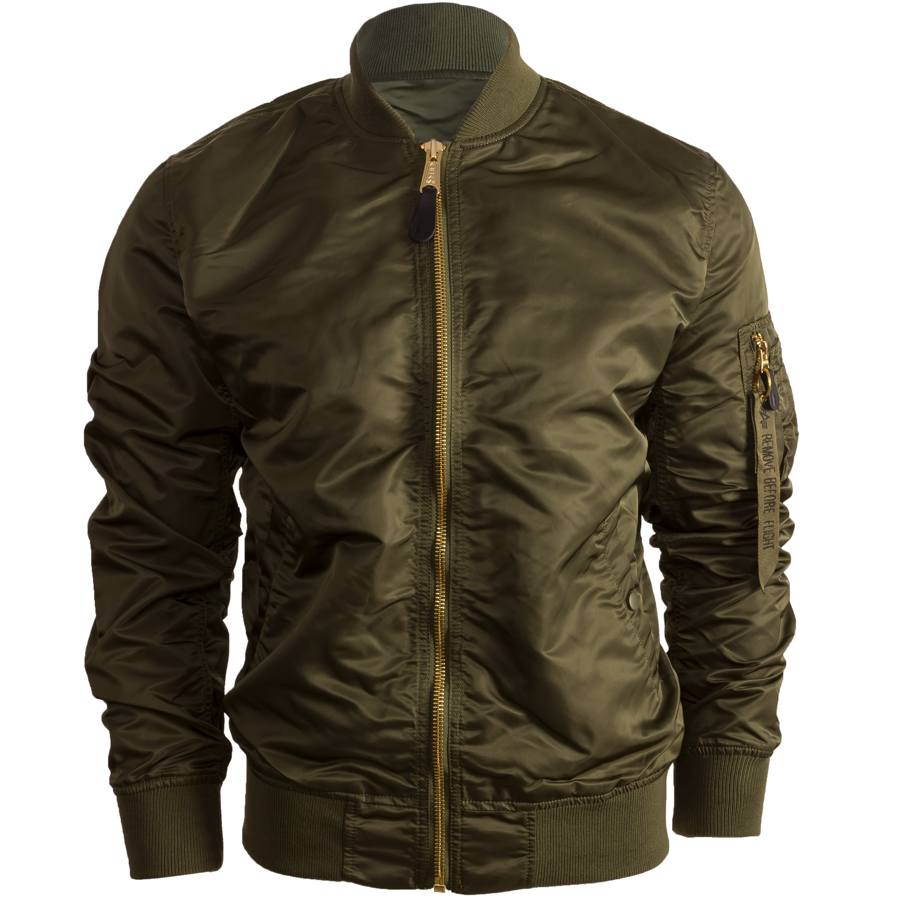 Alpha Industries MA 1 Air Force bomber jacket olive