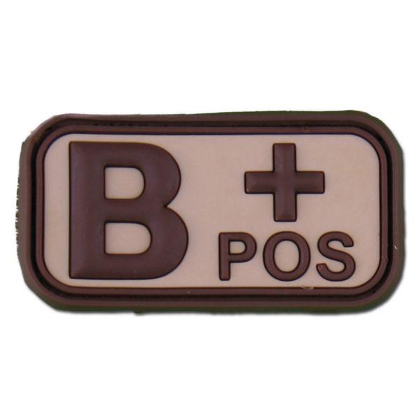 3D Blood Type B Pos desert