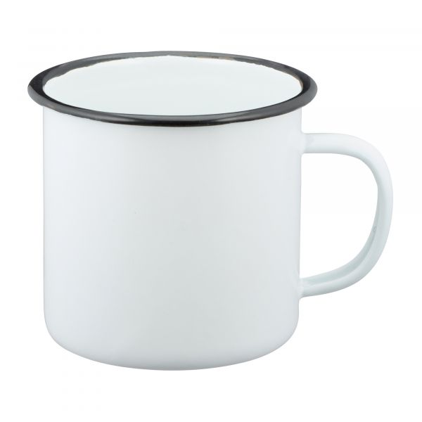 Enameled Cup 300 ml white/black