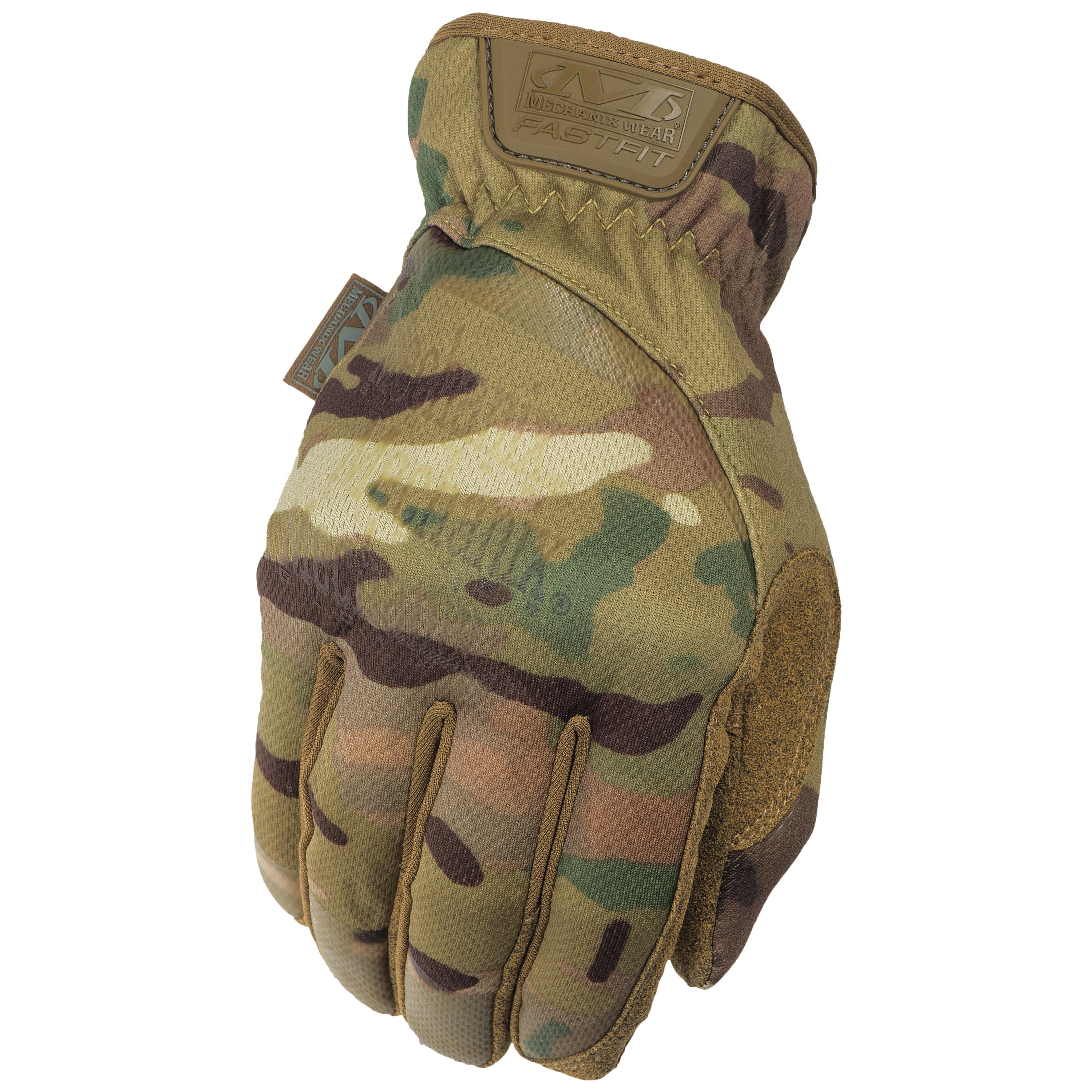 MFH Protect Tactical Fingerless Gloves Paintball Leather Grip Mittens OD Green