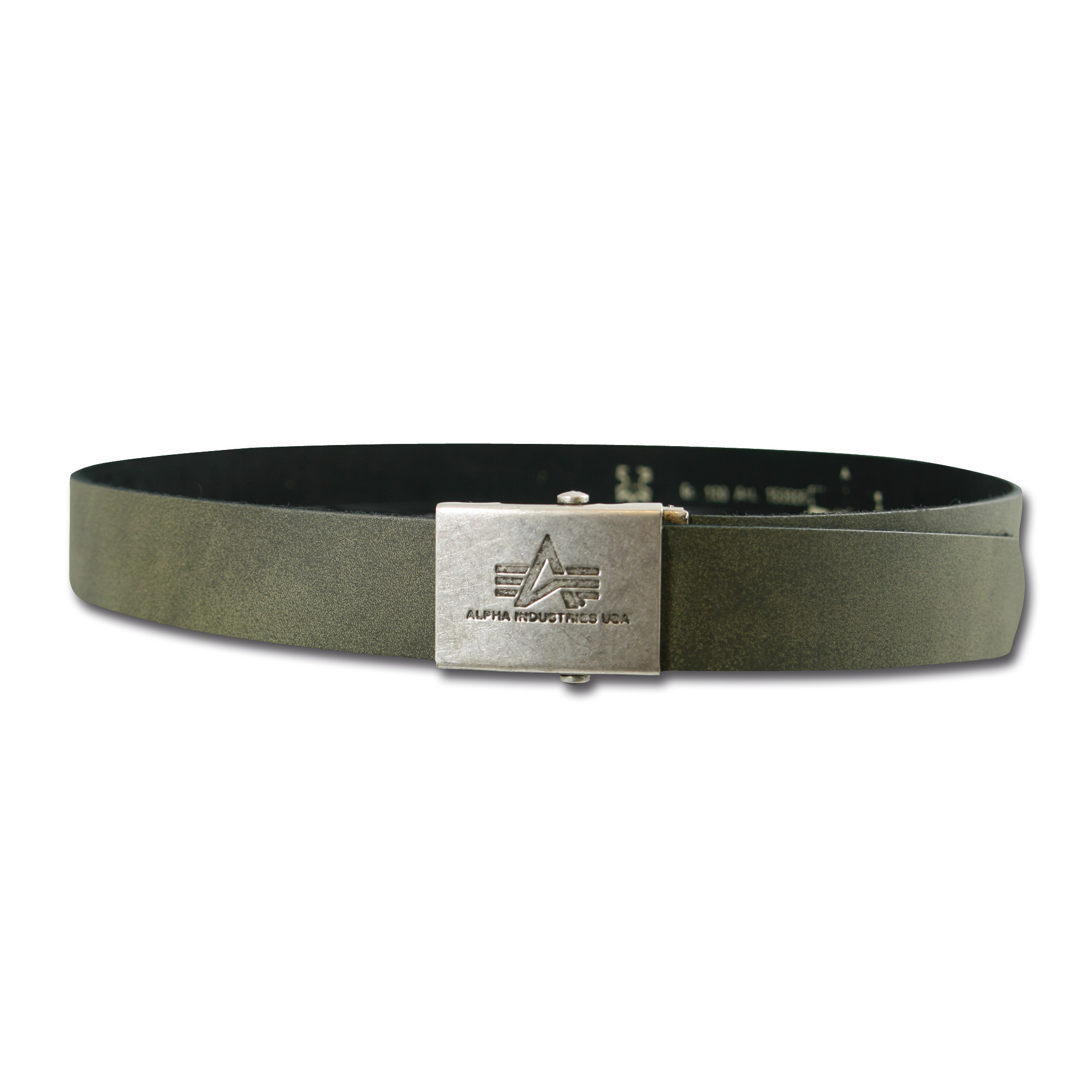Leather Belt Alpha Industries olive