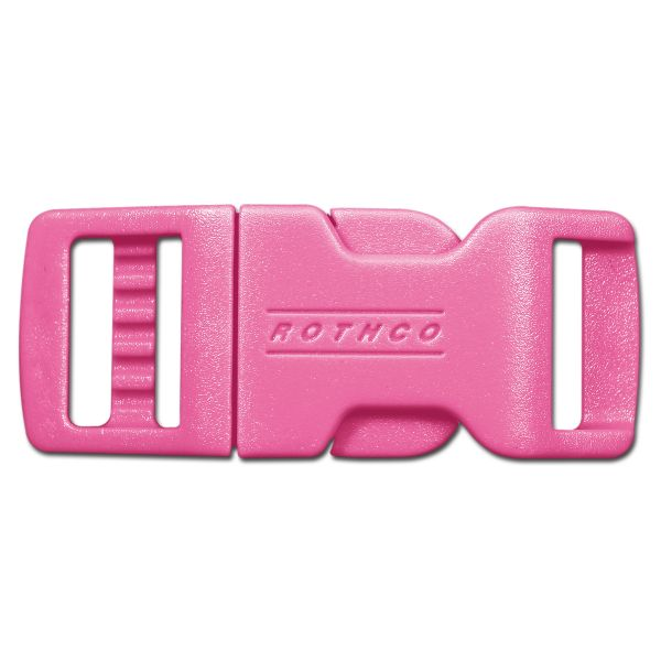 """Rothco 1/2"""" Side Release Clip Buckle Pink"""
