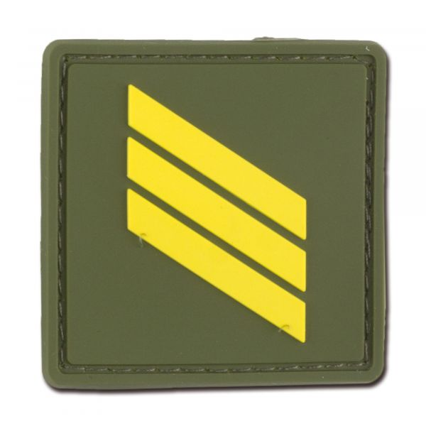Rank Insignia French Sergent Chef olive/yellow