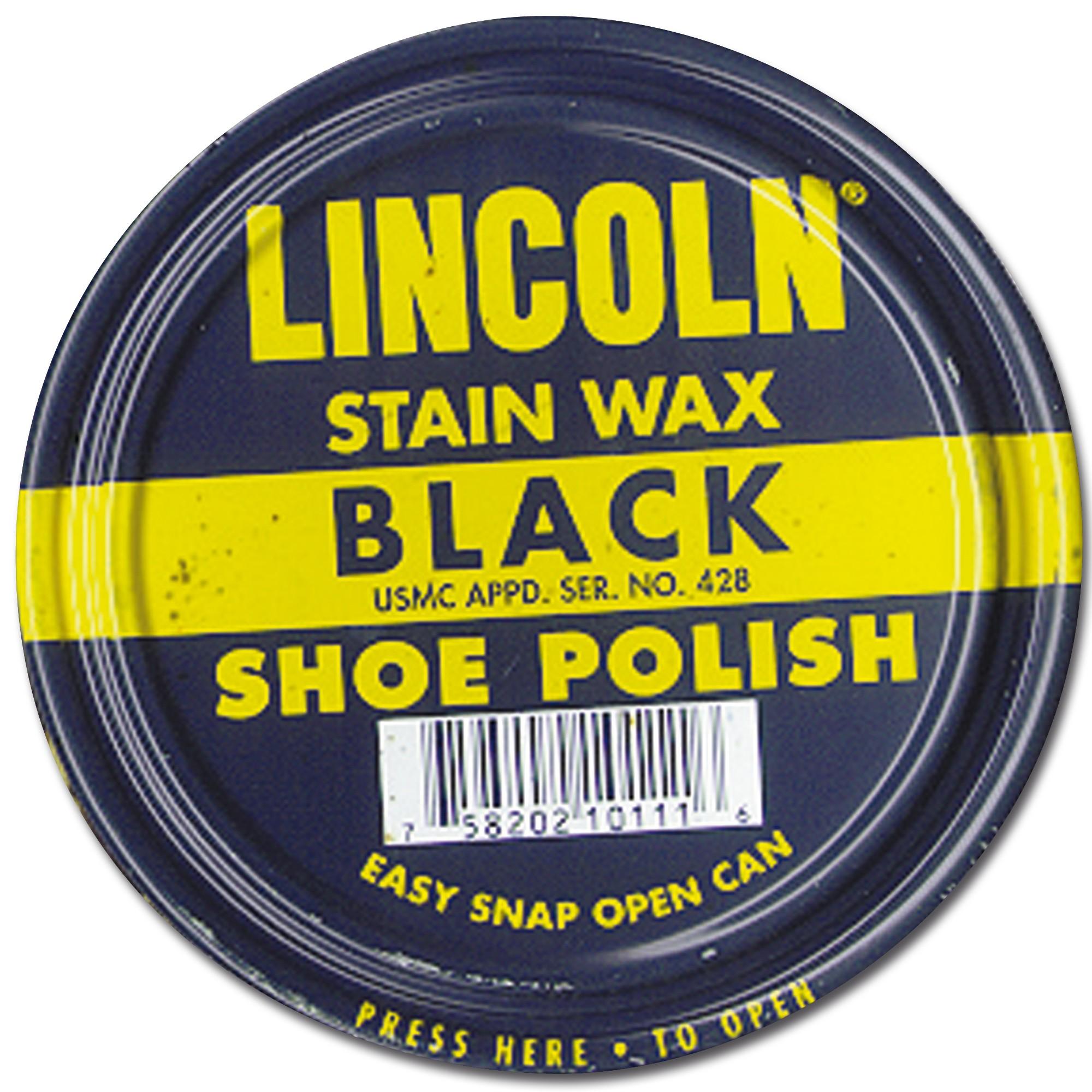 Shoe Polish Lincoln Stain Wax black