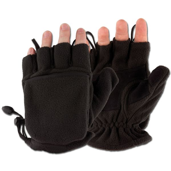 MFH Fleece Gloves black