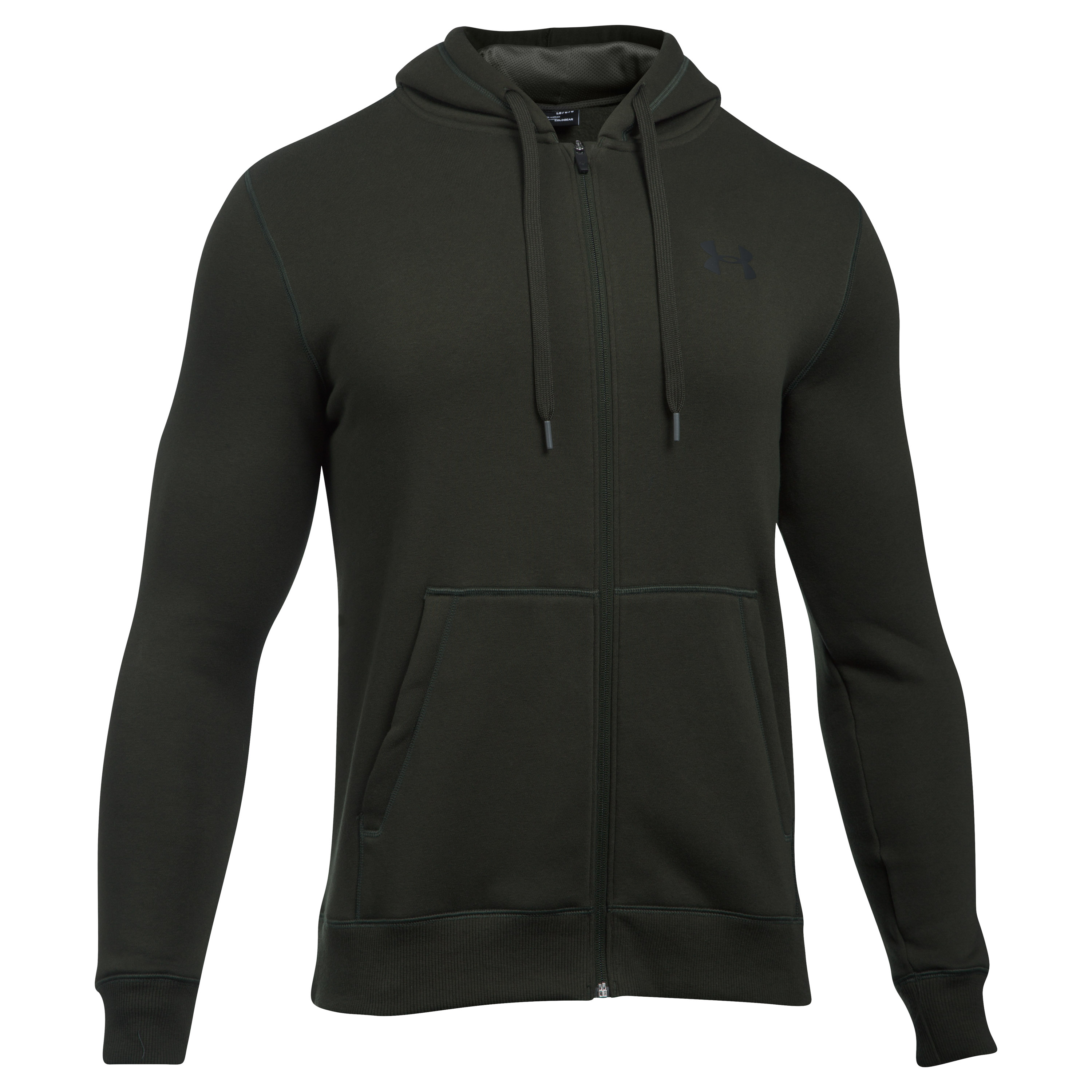 Under Armour Hoodie Rival Fitted dark green