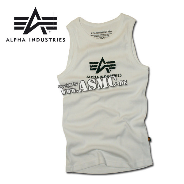Tank Top Alpha Logo white/black