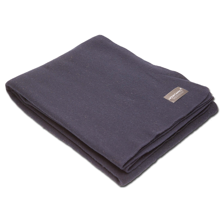 Wool Blanket 150 x 225 cm navy blue