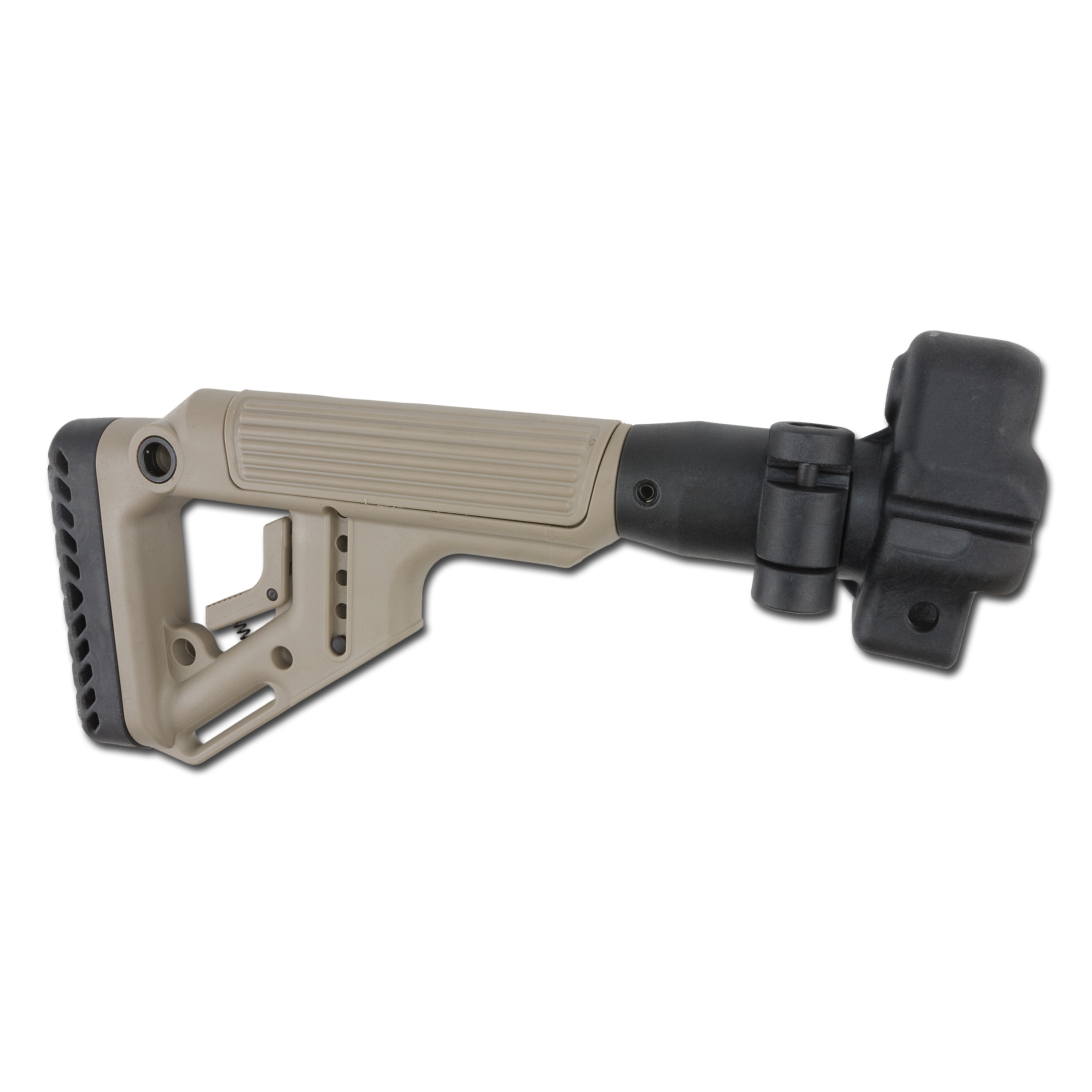 Fab Defense Tactical Folding Stock with Cheek Piece MP5 sand