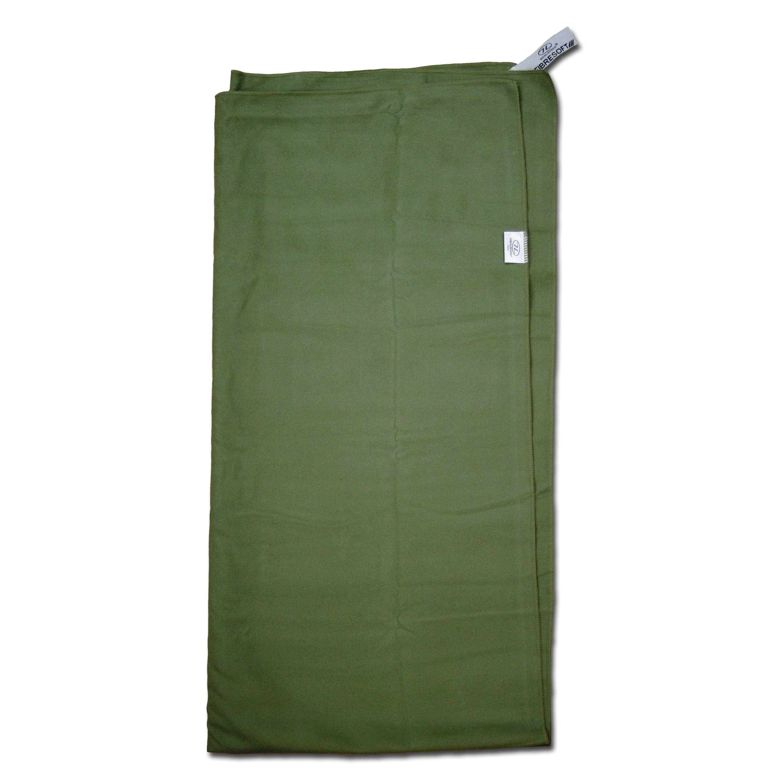 Highlander Microfiber Towel, olive 140 x 124 cm
