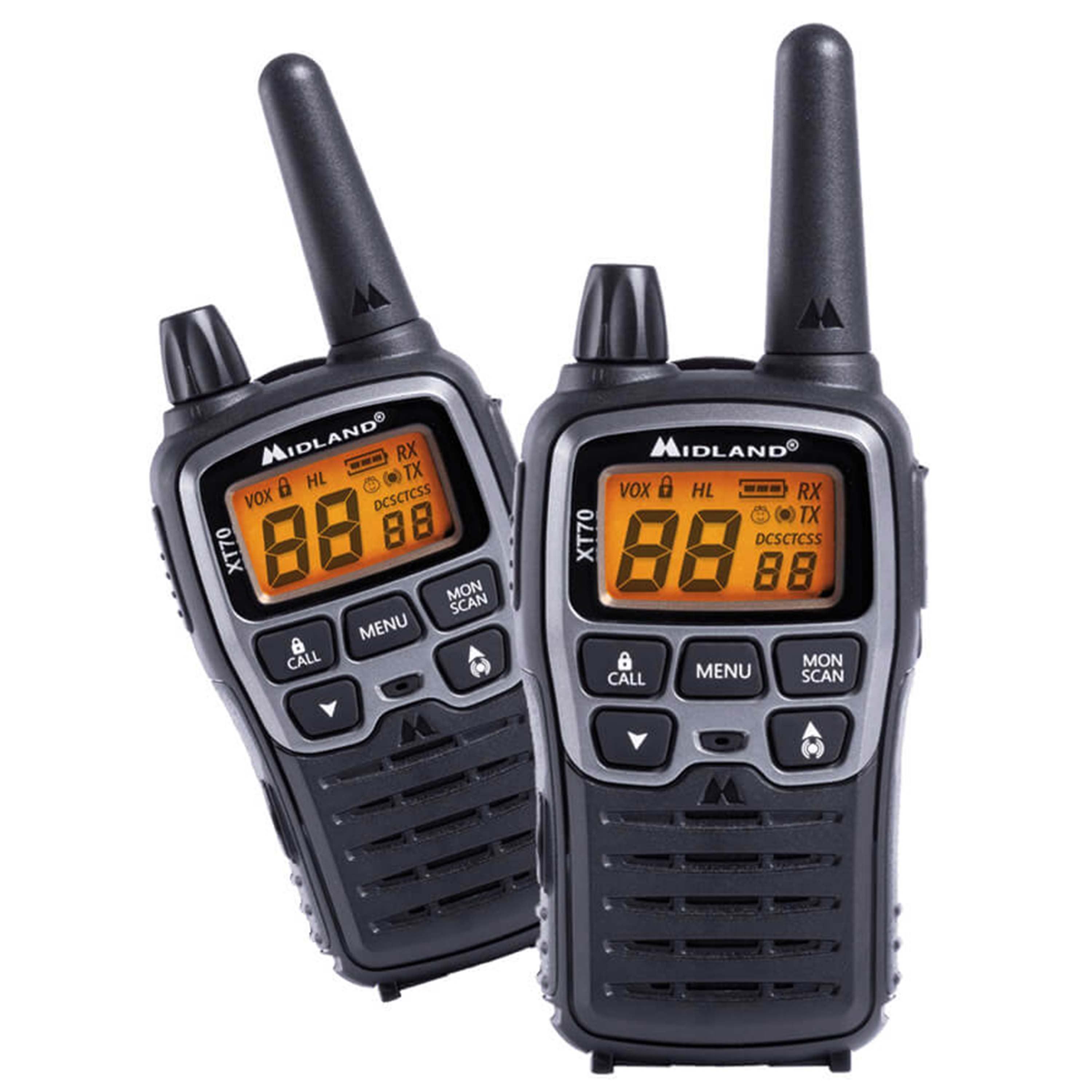 Two-Way Radio Midland XT70 Pair PMR + LPD Blister Pack
