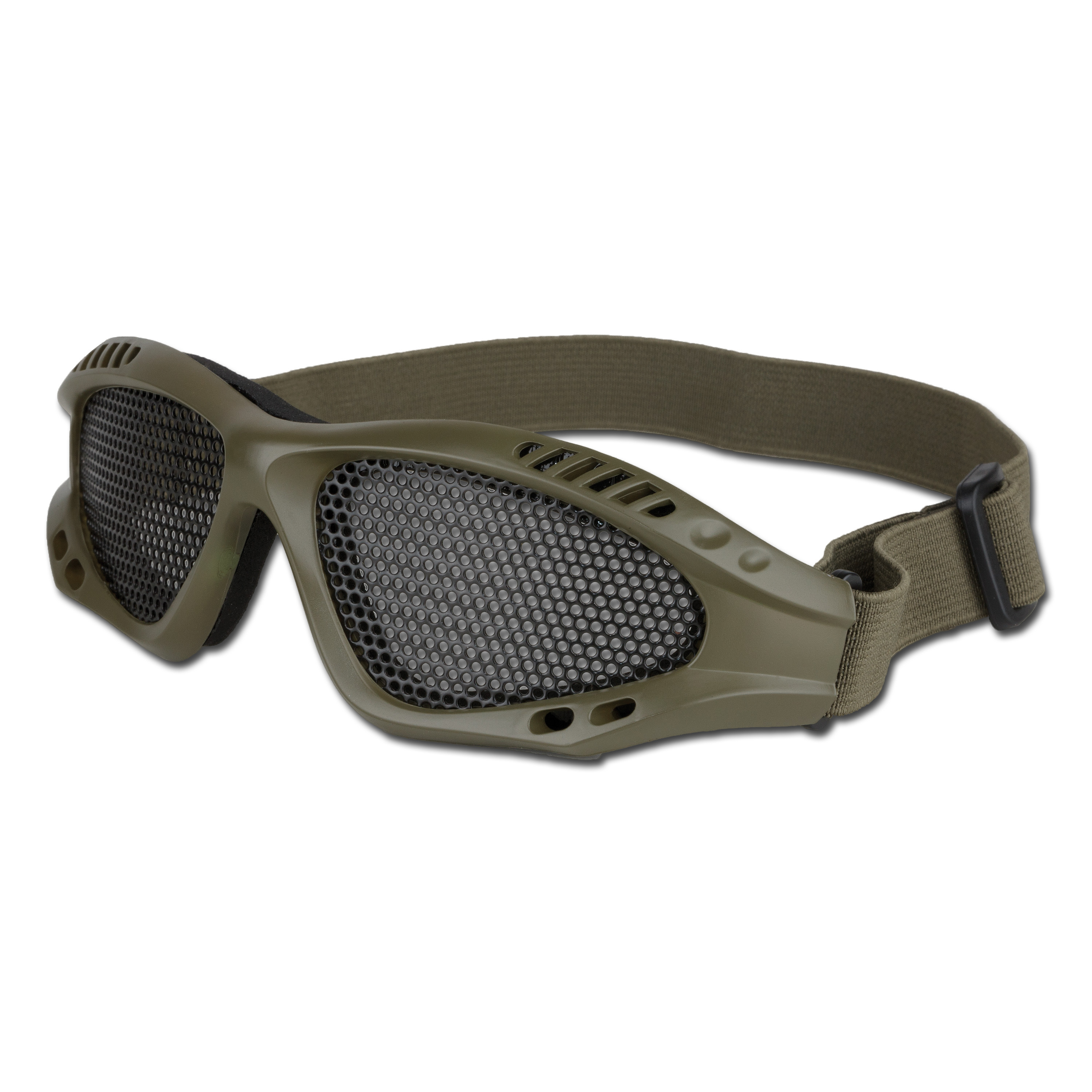 Airsoft Glasses With Metal Mesh Insert olive