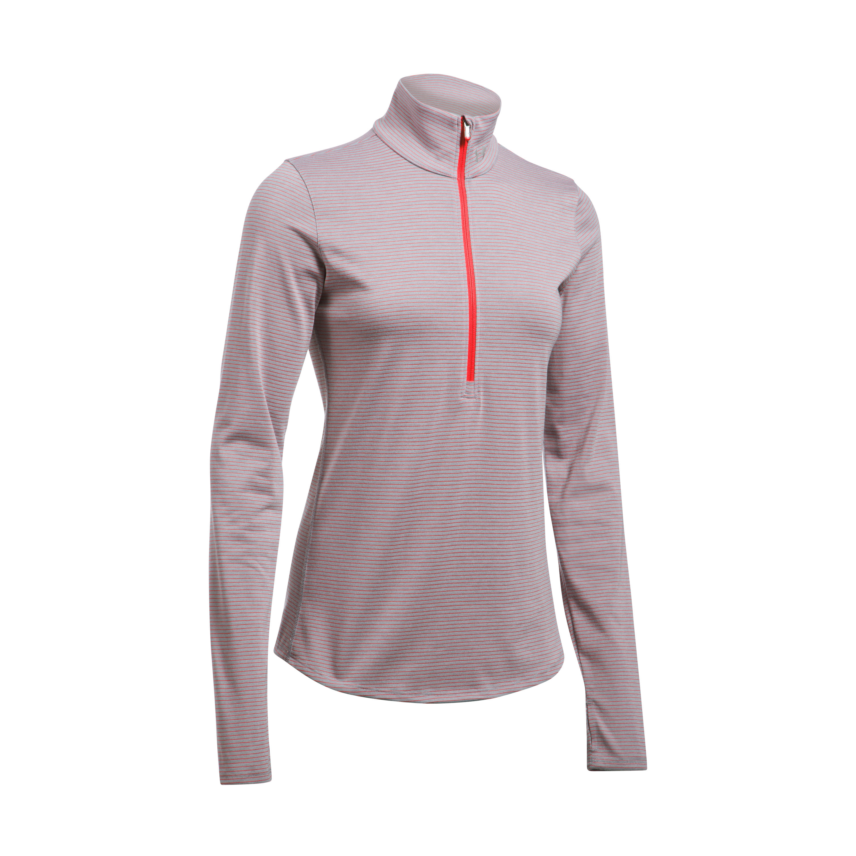 Under Armour Fitness Women's Threadborne LS 1/2 Zip gray