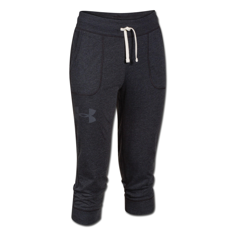 Under Armour Women CC Tri-Blend Capri Pants black