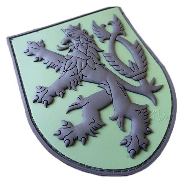 JTG 3D Patch Czech Republic Shield with Lion forest
