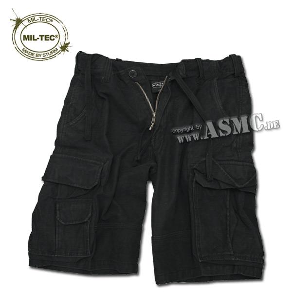 Aviator Shorts Satin washed black