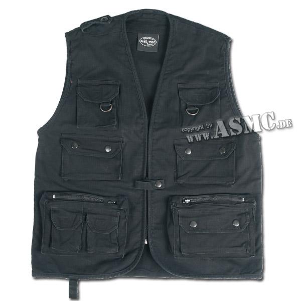 Fishing & Hunting Vest Moleskin black