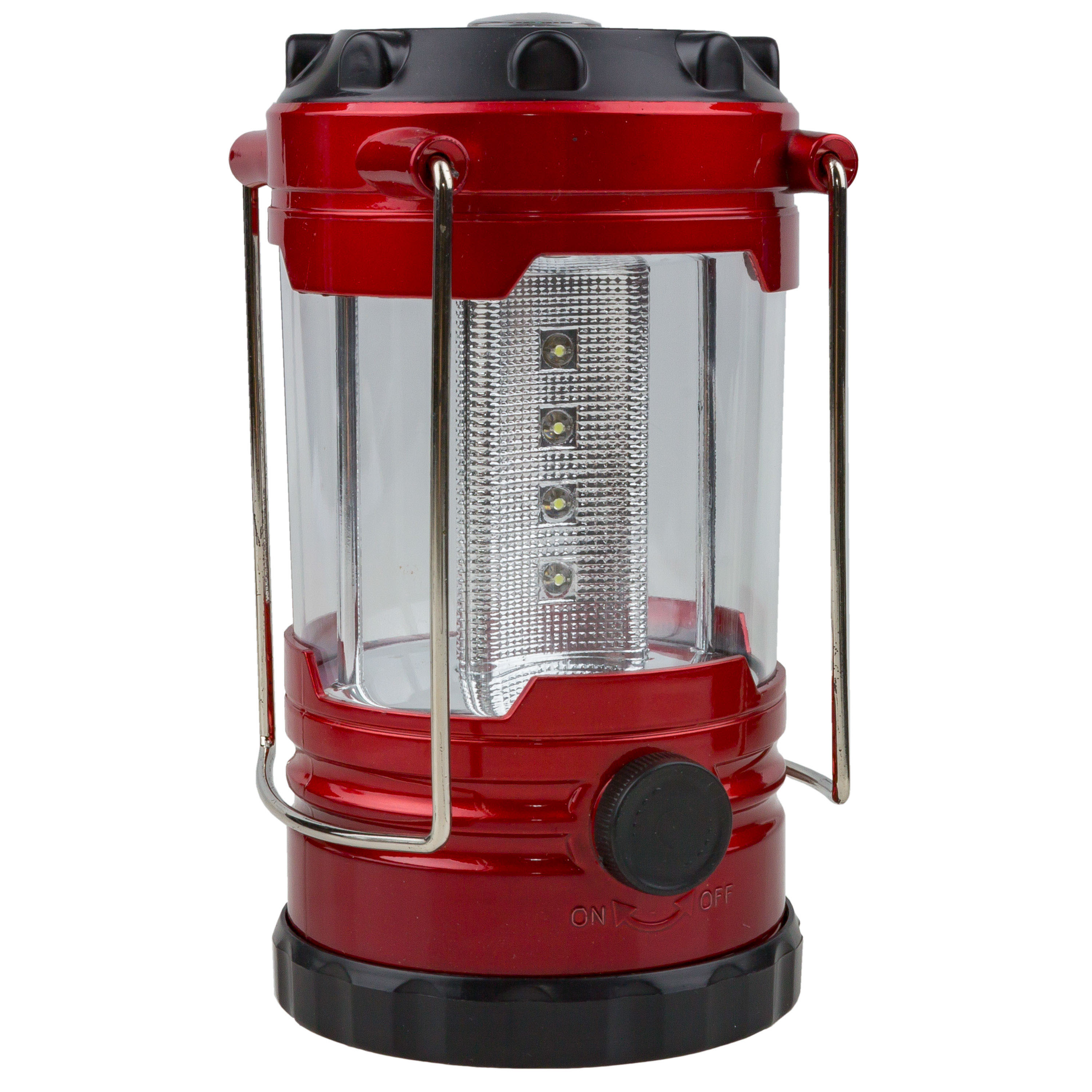 Camping Lantern with Compass red