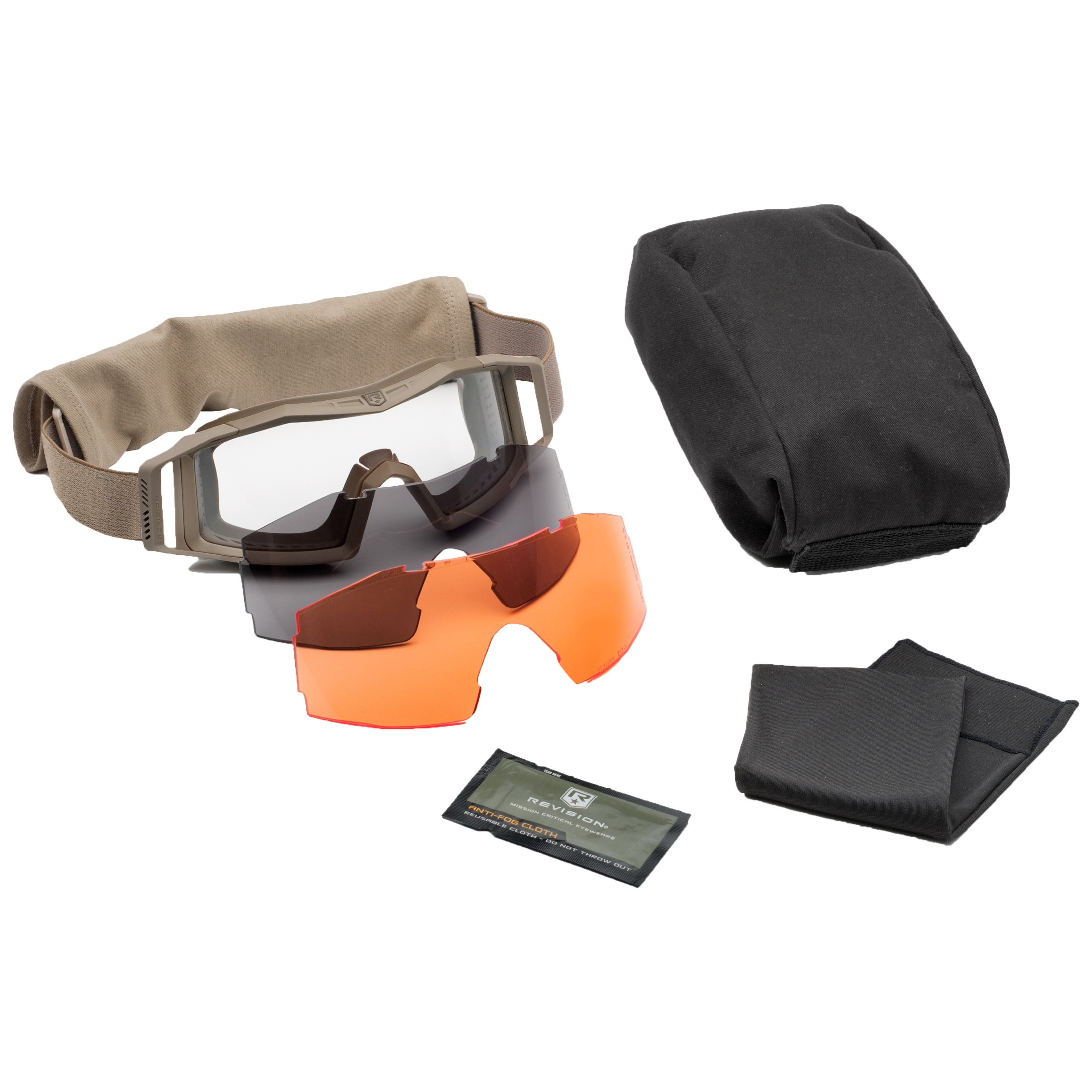 Revision Goggles Wolfspider Deluxe tan/orange lens