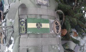 Patch auf Rucksack
