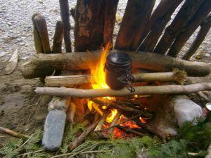 Direkt im übers Feuer