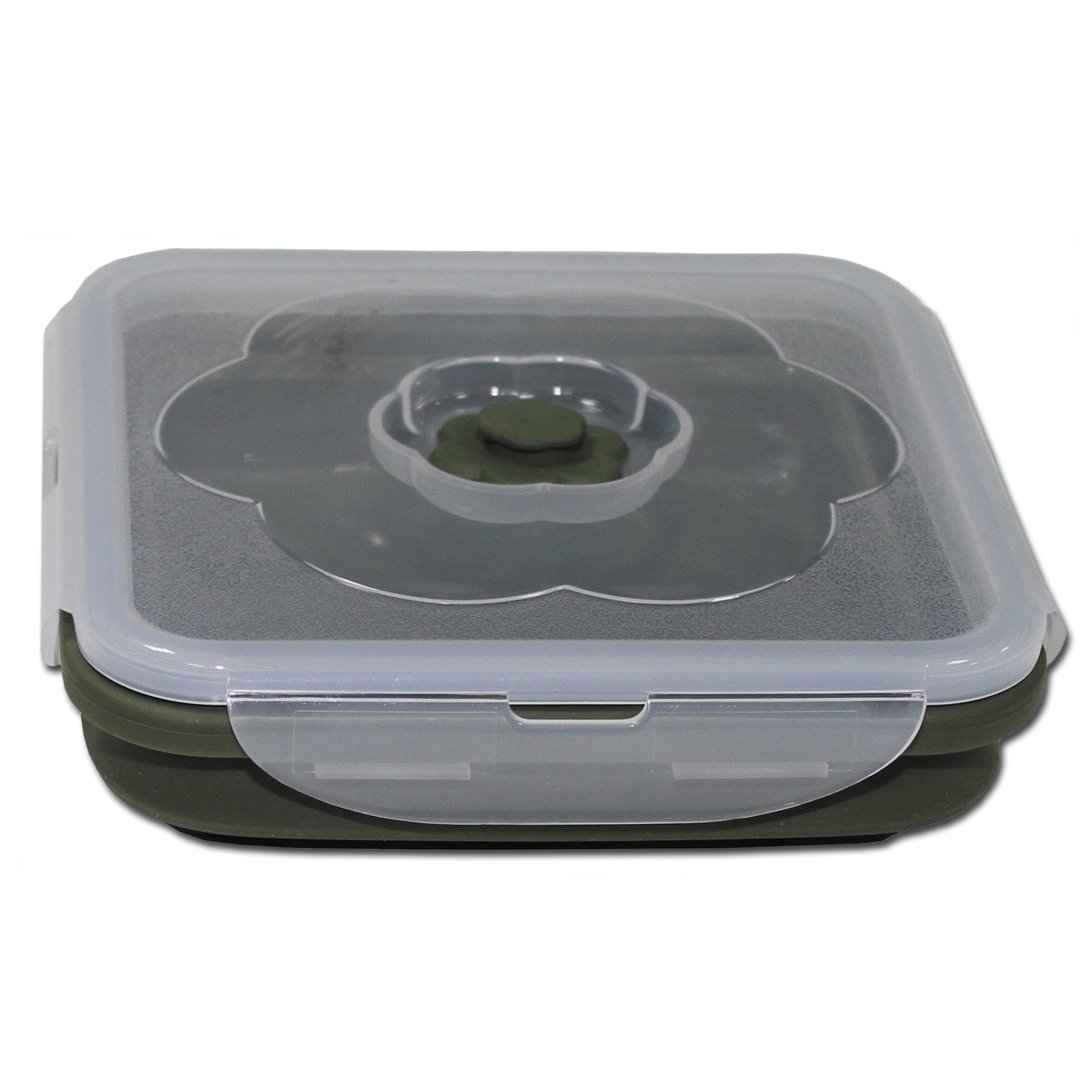 Food Container MFH, foldable 1 liter square olive