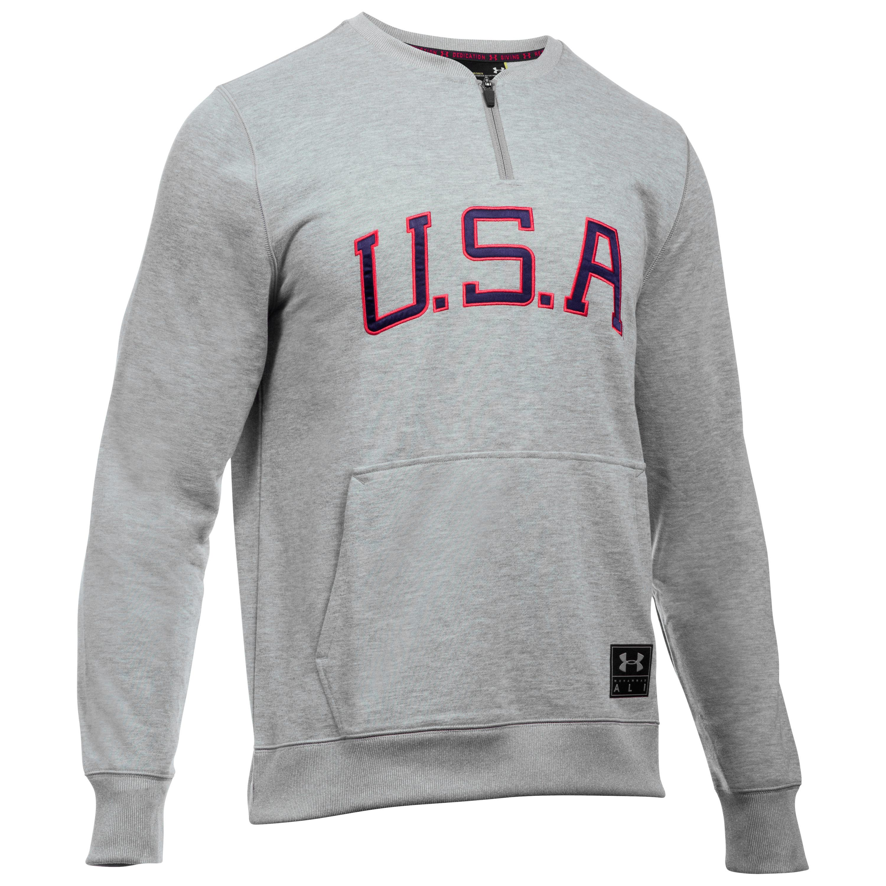 Under Armour Pullover Clay Americana Crew gray/red