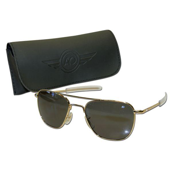 Aviator Sunglasses, gold 52 mm
