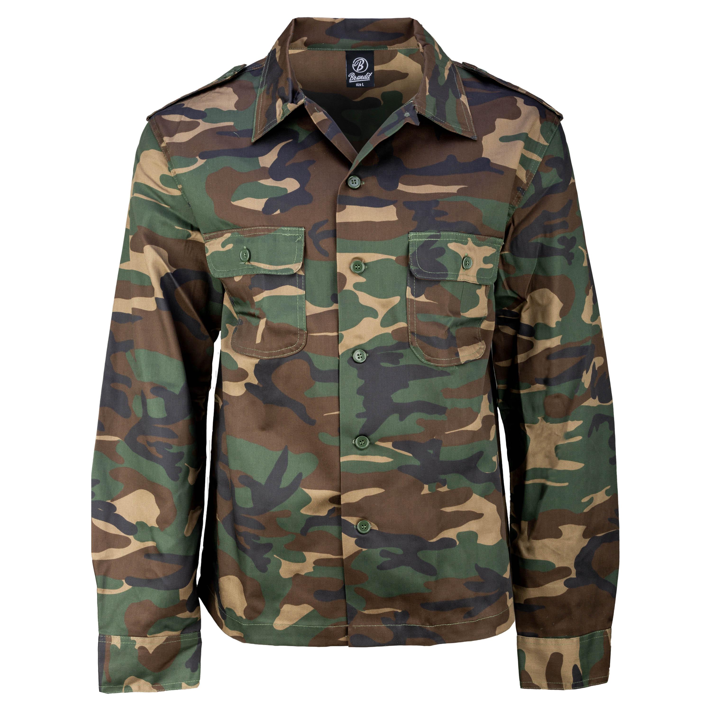 Brandit US Long Arm Shirt woodland
